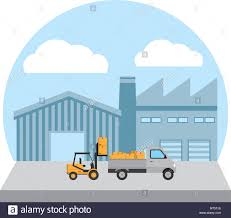 100 The Car And Truck Store Delivery Store With Forklift Service And Truck Boxes Stock Vector