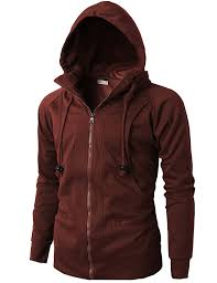 h2h mens casual fashion active jersey slim fit hoodie zip up at