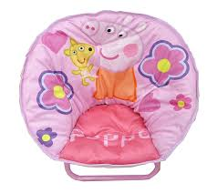 amazon com peppa pig toddler saucer chair toys games
