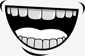 Creative Laugh Expression White Teeth Simple PNG Image And Clipart