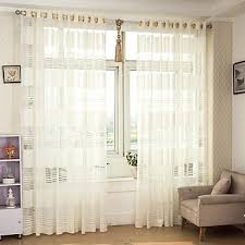 sheer drapes bayside slubbed sheer rodpocket panel exclusive