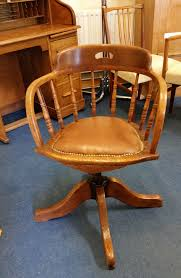 Edwardian Oak Swivel Desk Chair