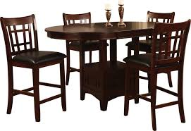 Dalton 5 Piece Chocolate Counter Height Dining Package