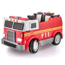 100 Fire Truck Red SUPERtrax Big Rig Rescue Kids Ride On 4WD Battery Powered Remote Control WFREE MP3 Player SHIPPING INCLUDED