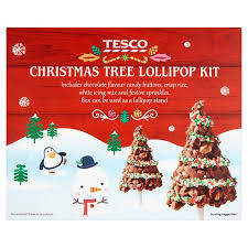 Rice Krispie Christmas Tree Pops by Tesco Christmas Tree Crispy Pop Kit 210g Groceries Tesco Groceries