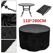 100 Patio Stack Chair Covers 110x280cm Outdoor Garden Furniture Cover Dustproof