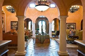 Tuscan Villa Mediterranean Living Room