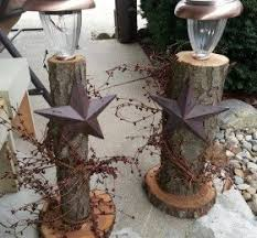 What Can You Do With Fallen Trees Branches Rustic Pillars Christmas Decor
