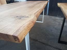 esstisch eiche massivholzplatte 5 5 5 cm tisch baumkante rustikal