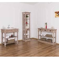 landhaus badmöbel set mit waschtisch und regalen moebro de