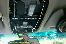replacing installing interior dome light with led ford explorer