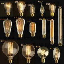 edison bulb a19 st64 t45 globe vintage 220v light bulb e27 buy