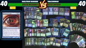 Mtg Evasive Maneuvers Deck List by Commander Versus Series Dech Tech David Mcdarby With Maelstrom