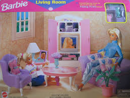 amazon com barbie living room playset folding pretty house