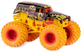 100 Gravedigger Monster Truck Jam Fire Ice Grave Digger Exclusive 164 Diecast Car Spin