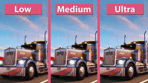 100 American Trucking Truck Simulator PC Low Vs Medium Vs Ultra Graphics