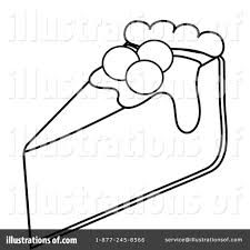 Royalty Free RF Pie Clipart Illustration by Pams Clipart
