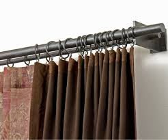 Telescoping Curtain Rod Set by Great Telescoping Curtain Rod Together With Satin Black Curtain