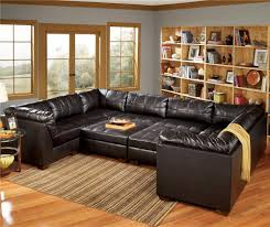 Chateau Dax Jackson Leather Sofa by San Marco 10 Piece U Shaped Sectional By Signature Design By