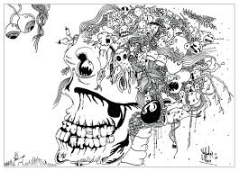 Coloring Page Adult Draw Doodle Zendoodle Pages For Adults Pinterest To Do Online Full Size