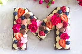 muttertagstorte einfacher letter cake ohne backen