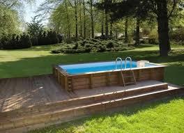 les plus belles photos de piscines bois hors sol semi enterrée ou
