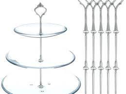 3 Tier Wedding Cake Stands Ebay Plate Sets 5 Elegant Stand Handle Fittings Silver S