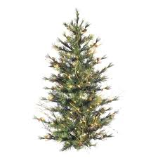 3 Pre Lit Artificial Christmas Trees Shop Ft Tree With Within Piece Alpine Set Foot