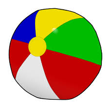 Vector Black And White Beach Ball Onlinelabels Clip Art