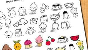 Cute Food Stickers For Your Planner