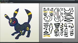 29 Images Of Pokemon Papercraft Template Chibi Umbreon