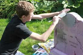 Halloween Tombstones Diy by Applying Monster Mud Hammer Like A Girlhammer Like A