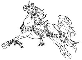 Horse Coloring Page Transasia Of Realistic Arabian Pages Download
