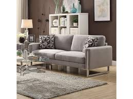 100 Sofas Modern Coaster Stellan Sofa With UShaped Steel Legs Value City
