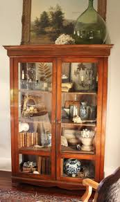 Curved Glass Curio Cabinet Antique by 234 Best Vintage Or Antique Curios China Display Cabinets Images