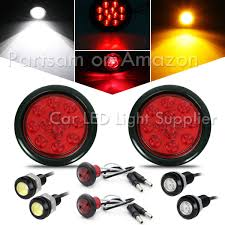 100 Truck Marker Lights Partsam 10Pcs 2 Inch Round Led Side Red 9