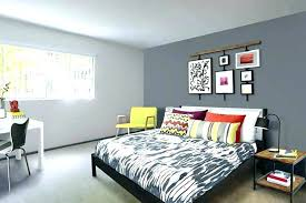 Dark Gray Accent Wall Bedroom With Light Paint And Behind Dining Room