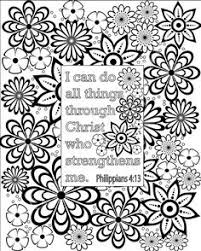 Flower Coloring Pages Bible Verse By GrapevineDesignShop