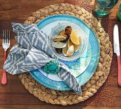 Water Hyacinth Place Mat | Pottery Barn AU Ding Beautiful Colors And Finishes Of Stoneware Dishes 2017 Best 25 Outdoor Dinnerware Ideas On Pinterest Industrial Entertaing Area The Sunny Side Up Blog Dinnerware Yellow Create My Event Drinkware Rustic Plate Plates And 11 Melamine Cozy Table Settings Stress Free Plum Design Red Platters Serving Tiered Pottery Barn