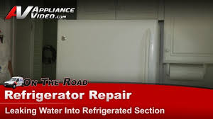 Whirlpool Refrigerator Leaking Water On Floor by Clogged Drain Tube Search Results Appliance Video