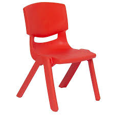 Deluxe Plastic Kid Chair (Red)   Toys