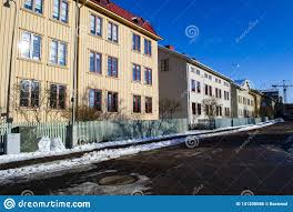 100 Apartments In Gothenburg Sweden A Picturesque Street With Old Wooden Houses