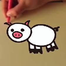 Dibujo De Cobaya Con Su Bebé Para Colorear Dibujos Para Colorear