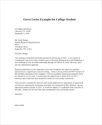 College Student Cover Letter Examples] 75 images 8 cover