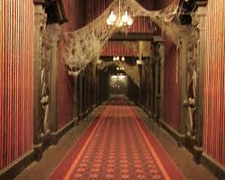Haunted Mansion Looking Down Endless Hallway With Work Lights On I Swear That This Part Always Made Me Nervous But Now Its Not So Scary