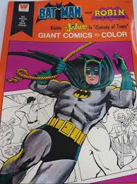 Vintage Batman And Robin Giant Coloring Book