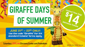 Giraffe Days Of Summer Ticket Promotion - LEGOLAND Discovery Center -  ColumbusUnderground.com Instrumentalparts Com Coupon Code Coupons Cigar Intertional The Times Legoland Ticket Offer 2 Tickets For 20 Hotukdeals Veteran Discount 2019 Forever Young Swimwear Lego Codes Canada Roc Skin Care Coupons 2018 Duraflame Logs Buy Cheap Football Kits Uk Lauren Hutton Makeup Nw Trek Enter Web Promo Draftkings Dsw April Rebecca Minkoff Triple Helix Wargames Ticket Promotion Pita Pit Tampa Menu Nume Flat Iron Pohanka Hyundai Service Johnson