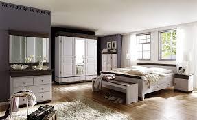massivholz schlafzimmer set komplett 8teilig weiß braun