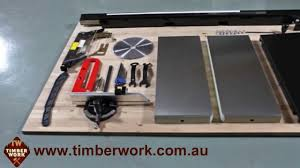 Sawstop Cabinet Saw Australia by Harvey Table Saw Assembly And Operation Timber Work Youtube