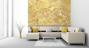 tapeten gelb modernes design auf vlies mowade